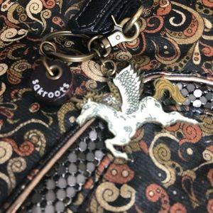 Sakroots Bags - Sakroots by Sak Satchel Purse with Unicorn Charm
